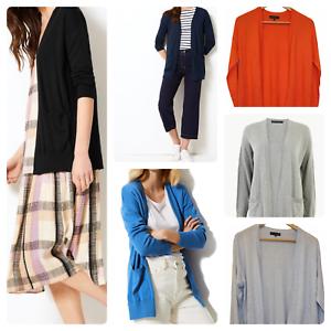 Ladies-Ex-F-amp-F-New-Pure-Blend-Open-Front-Long-Cardigan-Jumper-Tops-UK-6-22