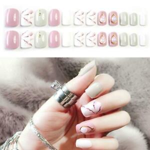 24pcs-Nail-Tip-Artificial-False-Acrylic-Design-Fake-French-Full-Nails-Art-S11