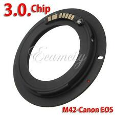 AF III Confirm M42 Chips Lens to Canon EOS EF Mount Ring Adapter 600D 550D 7D 5D