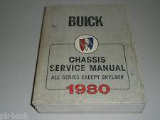 Werkstatthandbuch Service Manual Buick 1980 Skyhawk LeSabre Electra Riviera etc