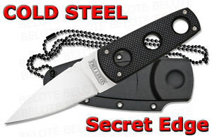 Cold-Steel-Secret-Edge-Fixed-Blade-Knife-w-Secure-Ex-Neck-Sheath-11SDT-NEW