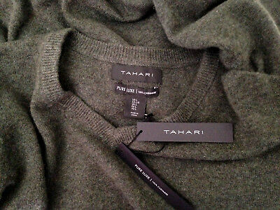NWT Tahari Pure Luxe 100% Cashmere Men's Handsome Green V Neck Sweater L $245 | eBay