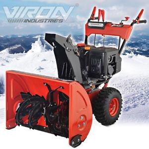 Benzin-Schneefrase-13-PS-Elektrostarter-Kehrmaschine-Schneeschieber-Motorbesen