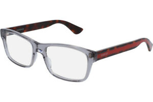 e992943a087 Image is loading NEW-GUCCI-Mens-Grey-Havana-Transparent-Stripe-Eye-