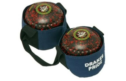 Two Bowl Carrier Drakes Pride Navy Bowls Carry Bag