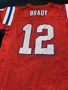 f41bda190bb Image is loading Vintage-Reebok-Red-Tom-Brady-New-England-Patriots-