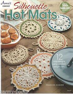 Silhouette-Hot-Mats-Frances-Hughes-Crochet-Instruction-Patterns-Annies-Attic-NEW
