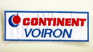 Ancien écusson Brodé CONTINENT VOIRON - blanc Bleu Rouge - Collector NAI0ykRB-08065450-142959357