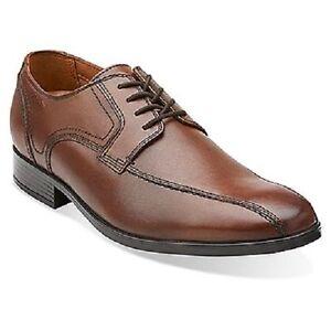 Image is loading Clarks-Kalden-Vibe-Men-039-s-Brown-Leather-