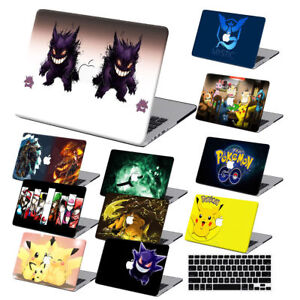 Pokemon-Cartoon-Painted-Hard-Rubberized-Case-Keyboard-Cover-For-Macbook-Pro-Air