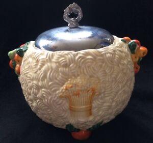 Clarice Cliff Celtique Harvest ART DECO poterie Biscuit Barrel 1930 S- Perfect cond-afficher le titre d`origine Do9pwS2A-09091538-628767447