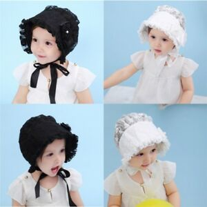 66f5d611b5b Baby Girl Infant Newborn Kids Cute Lace Hat Cap Beanies Vintage ...