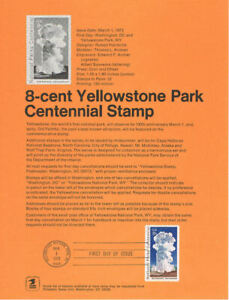 7201-8c-Yellowstone-Park-Stamp-1453-Souvenir-Page-w-Eagle-Watermark
