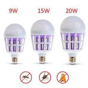 Home-Moustique-Tueur-Ampoule-DEL-2-en-1-Lumiere-Fly-Insect-Bug-trap-Zapper-Lampe-E27