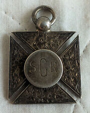 1912 S.G.R. SPORT JUNIOR CHAMPION 29mm HALLMARKED SILVER CROSS MEDAL