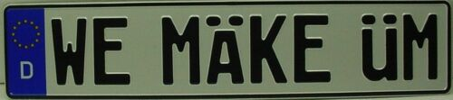 USA made euro style tag VW tdi european license plate custom prius tessla volt