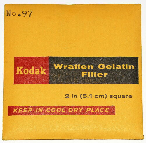 """50mm Filter NEW UNOPENED Kodak Wratten 97 Gelatin 2/"""" x 2/"""""""