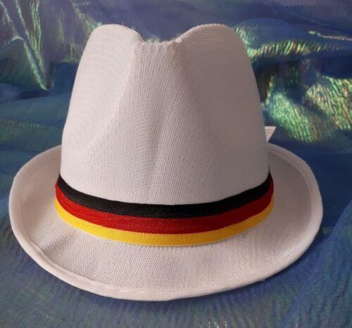 Fan-Hut Trilby weiß mit schwarz-rot-gold Germany Deutschland Fan WM EM 129169513