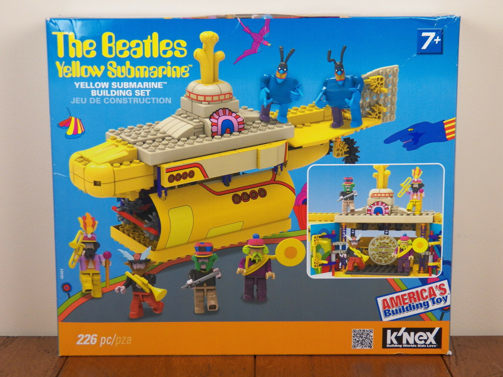 K Nex Beatles Yellow Submarine Building Set 48464 And Rare For