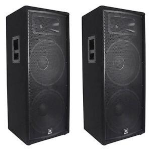 """(2) JBL JRX225 Dual 15"""" Professional 4000w Passive DJ/PA Speakers 4 Ohm JRX 225"""