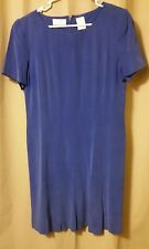 Liz Claiborne Dress Size 14P,  100% Silk/SOIE Blue        B3