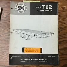Ditch Witch T12 Trailer Parts Manual Book Catalog List Guide Flat Deck Tag Tow