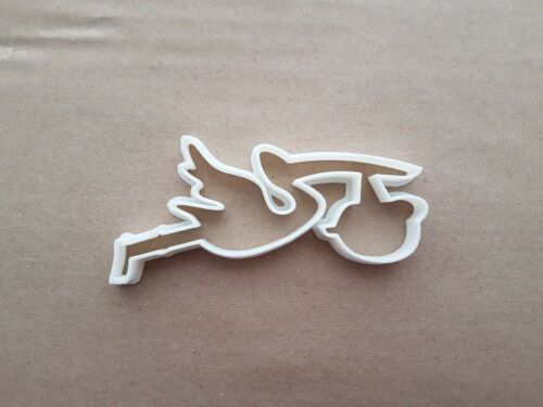 Stork Baby Birth Bird Pregnancy Shape Cookie Cutter Dough Biscuit Fondant Sharp