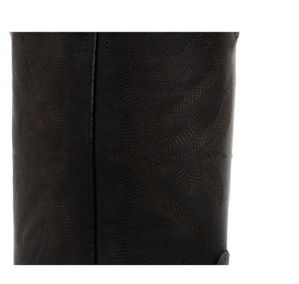 Grinders Louisiana Louisiana Louisiana schwarze Herren Blockabsatz Cowboy Leder Stiefel fc3e5c