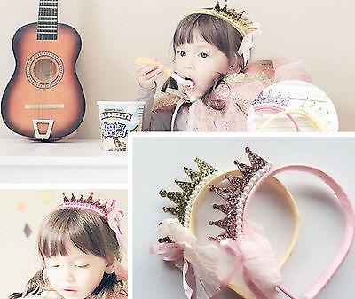 New Girls Kids Children Baby Princess Birthday Party Crown Tiara Hair Head Band