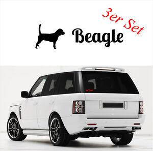 auto aufkleber beagle im 3er set hund hunde hundeaufkleber siviwonder ebay. Black Bedroom Furniture Sets. Home Design Ideas