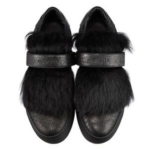 NEW-MONCLER-BLACK-FUR-TONGUE-SNEAKERS-39-895