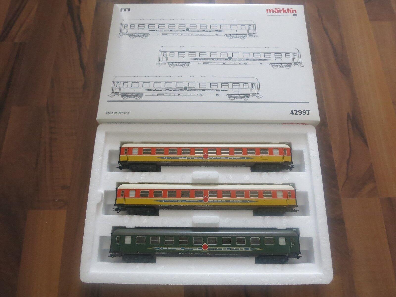Märklin H0 42997 Wagen-Set  Apfelpfeil  der DB in OVP