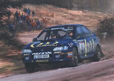 Colin McRae Suburu Impreza WRC Rally Motor Sport Racing Classic Car Art Print