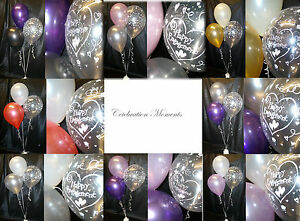 Engagement-Hearts-Helium-Party-Balloon-DIY-Decoration-Clusters-10-Table-Kit