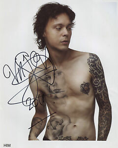 Ville Valo Him SIGNED Photo 1st Generation PRINT Ltd 150 + Certificate (5)
