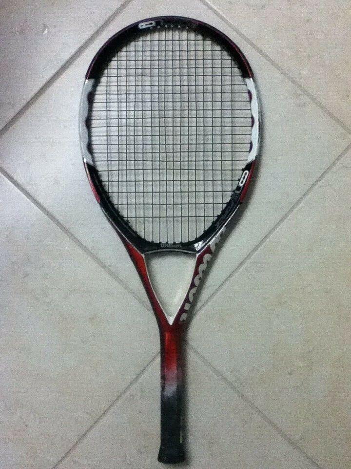 Wilson NCode n5 fuerza 110 OverTalla Raqueta De Tenis Raqueta bien 4-3 8  Envío Gratuito