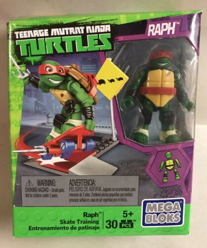 Mega Bloks Teenage Mutant Ninja Turtles Raph Skate Training Figure Playset Toy