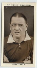1935 Tobacco Card of ALEX JAMES of ARSENAL by Stephen Mitchell & Son ex-mt+