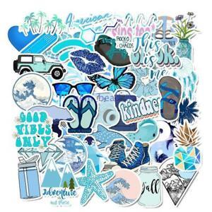 50-Pcs-Cartoon-Blue-Waterproof-Sticker-DIY-Laptop-Trolley-Case-Helmet-Car-Decals