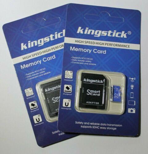 2 X Kingstick 32GB clase 10 Tarjeta SD Tarjeta de memoria SDHC con Adaptador