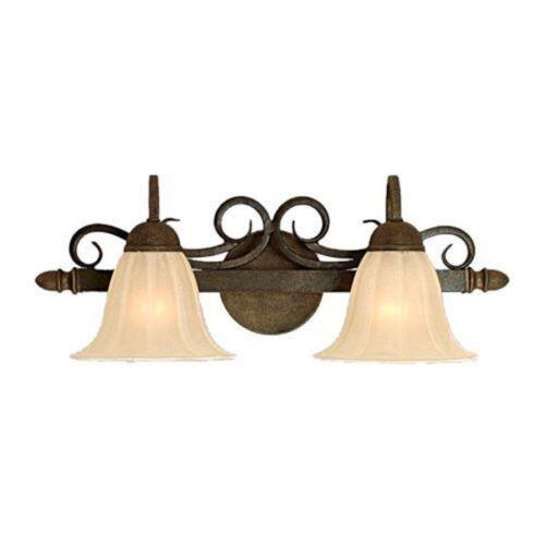 Burnished Gold Millennium Lighting 912-BG 2-Light Bathroom Vanity Light