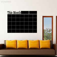 Weekly Planner Calendar Blackboard Removable Wall Sticker Chalk Black Board YU