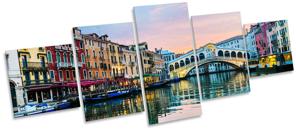 Rialto Bridge Venice  MULTI CANVAS WALL ART Print Box Frame