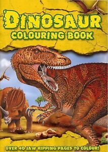 Kids Dinosaur Colouring Book 40 Pages Childrens Learning Adventure Activity 1977 9781847509772