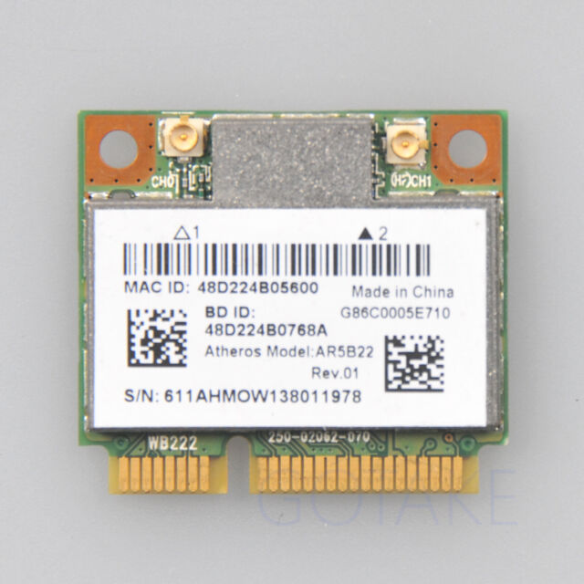 AR5B22 Atheros Anatel Dual Band Wireless WiFi Bluetooth Half Mini PCI-e Card