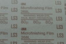 "Grade 9MIC 6inx11//16/"" NEW Type D 3M Hookit 268L Microfinishing Film"