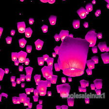 10 Rose Colour Balloon Chinese Sky Lanterns Kongming Fire Flying Floating Khoom