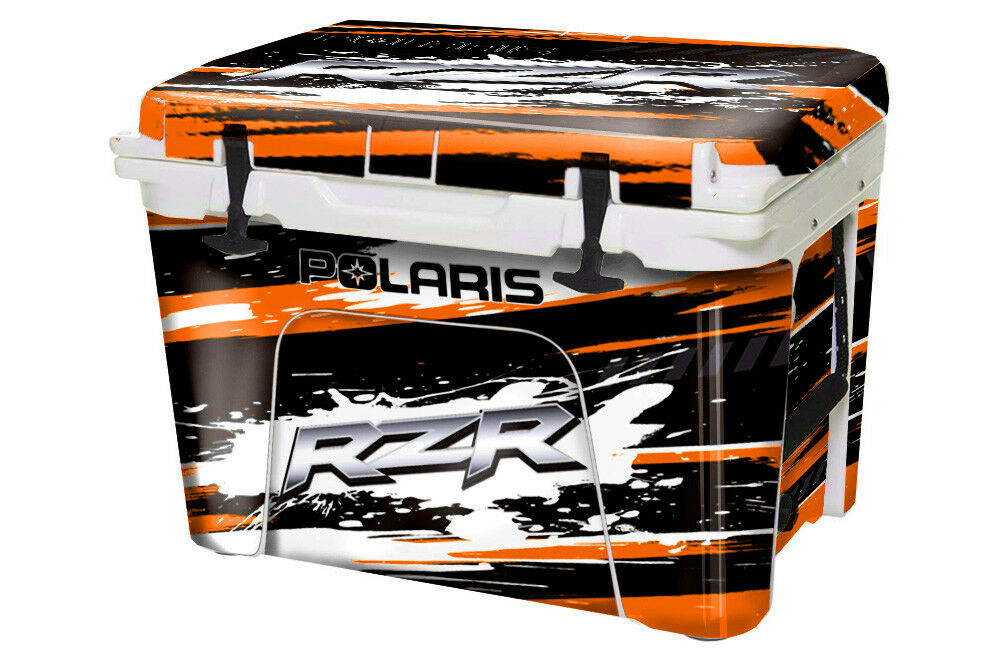 Etiqueta personalizada Enfriador Wrap se ajusta Yeti Tundra 35QT Completo Rzr SXS Naranja