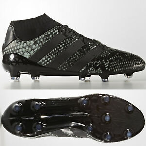 best loved 94d5a c862b Details about adidas Ace 16.1 Primeknit FG Mens Football Sock Boots Firm  Ground Black ALL Size