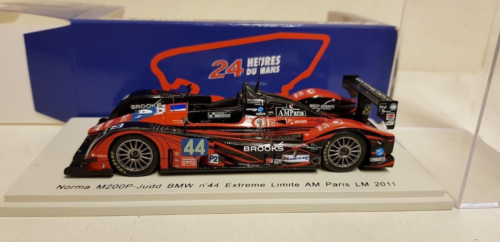 SPARK NORMA M200P JUDD BMW EXTREME LIMITE AM PARIS LEMANS 2011 1 43 S2538